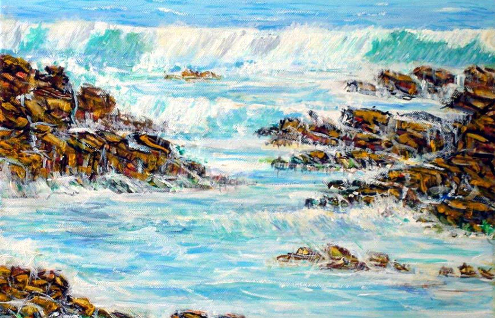 Peindre La Mer En Videos Vagues Rochers Etc Pearltrees