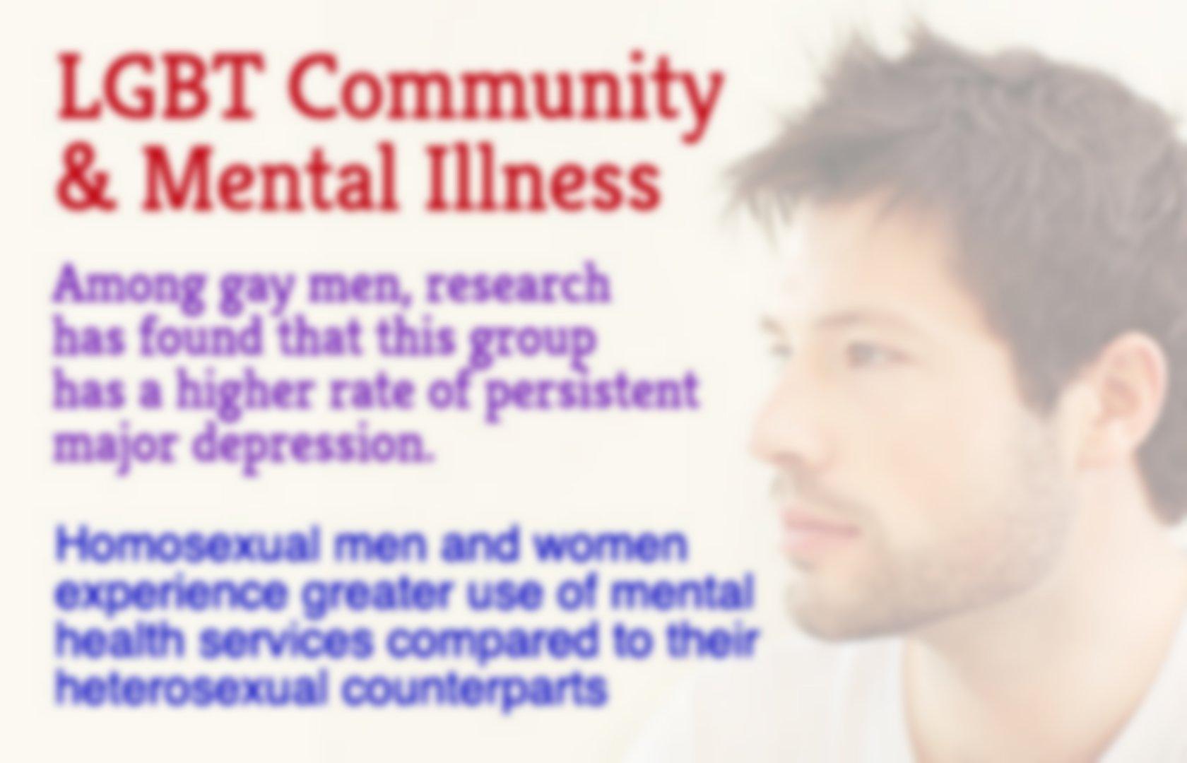 Homosexual mental health problems