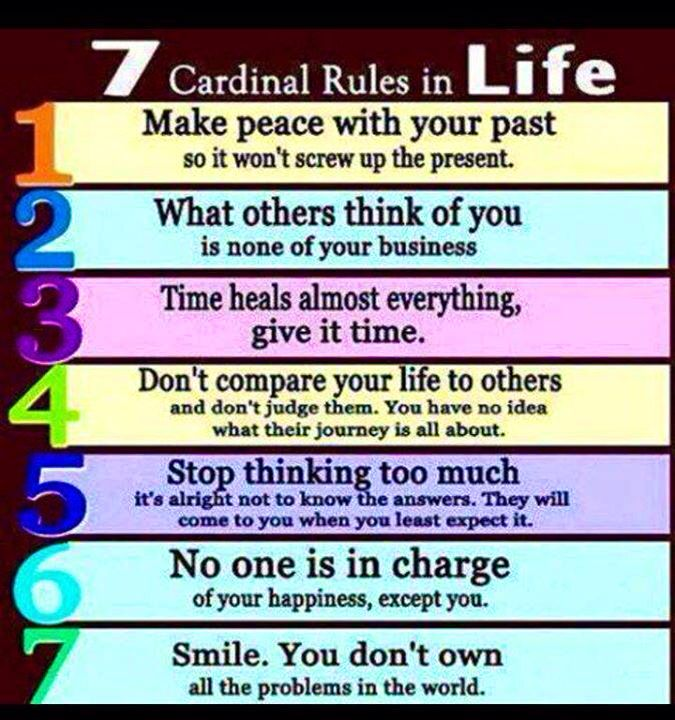 7 Rules Of Life Quote Extraordinary 7 Cardinal Rules In Life  Pearltrees