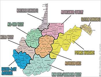9 Tourism Regions Of Wv Pearltrees