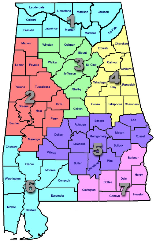 Alabama State Interactive Map Pearltrees - Alabama state map