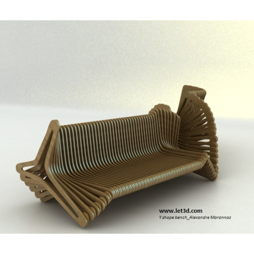 Alexandre moronnoz y shape bench pearltrees for Mobilier exterieur design