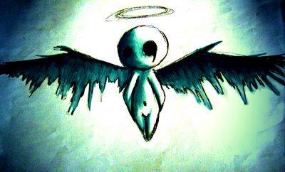 Ange des tenebre pearltrees - Dessin ange noir et blanc ...