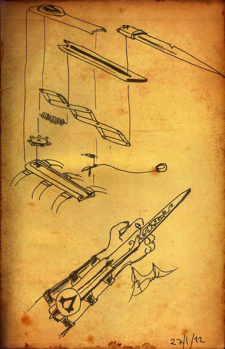 Assasins creed hidden blade mechanism pearltrees for How to make a blueprint
