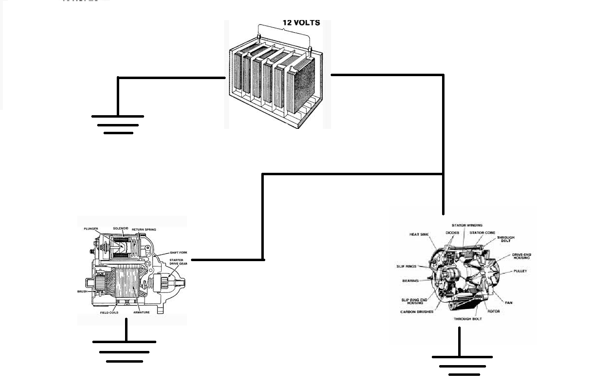 starter alternator diagram