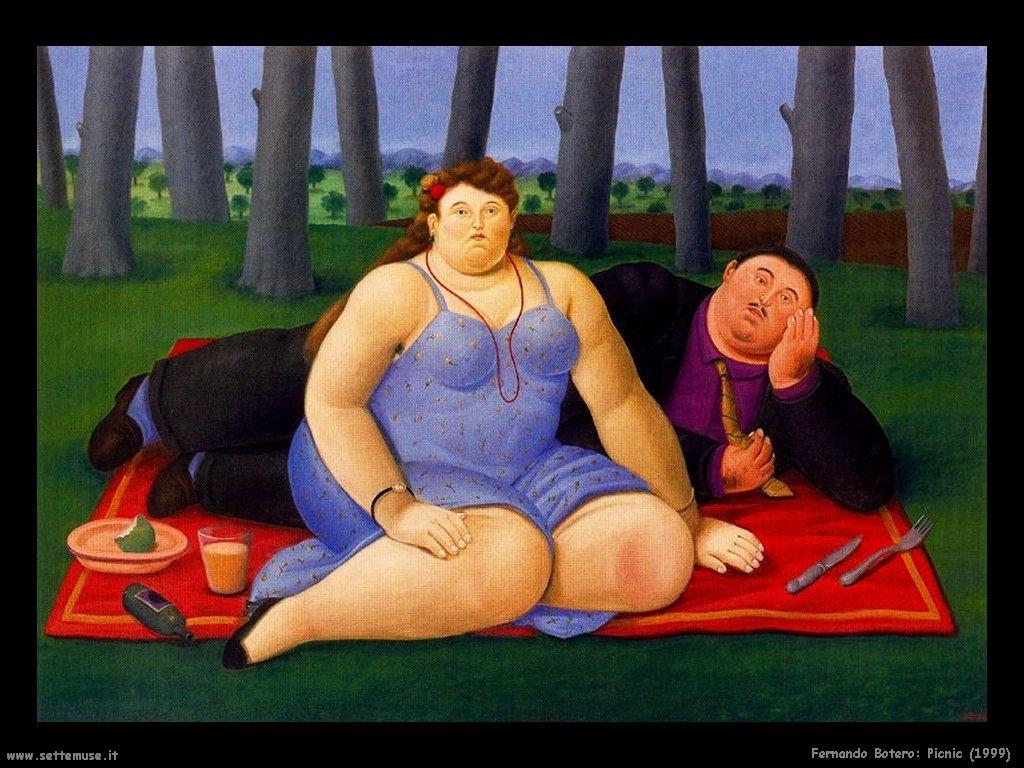 Rondes, rondes, rondes sont les femmes rêvées Botero-pique-nique-58489236