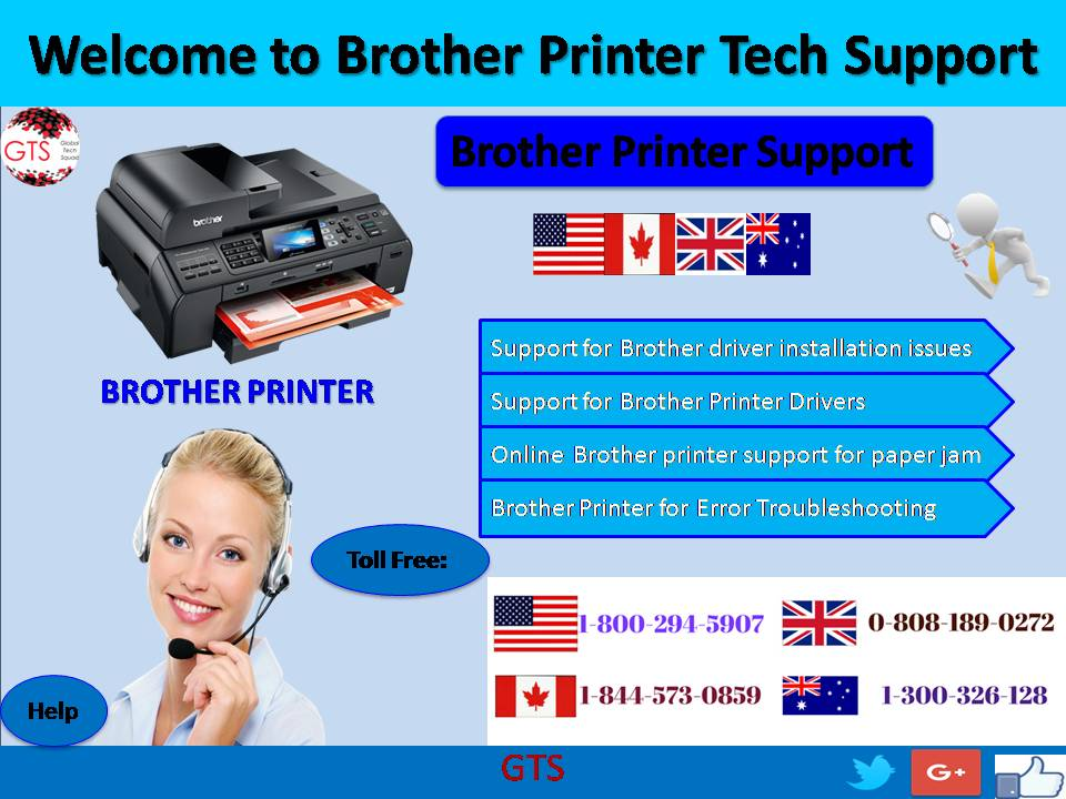 Brother printer tech support dial usa 1 800 294 5907 for Brother support