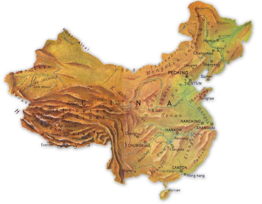La Cina Cartina Politica.Cartina Fisica Cina Fonte Www Cittacapitali It Pearltrees