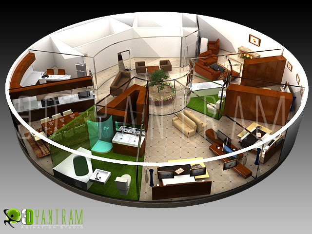 3d commercial office floor plan design studio pearltrees. Black Bedroom Furniture Sets. Home Design Ideas