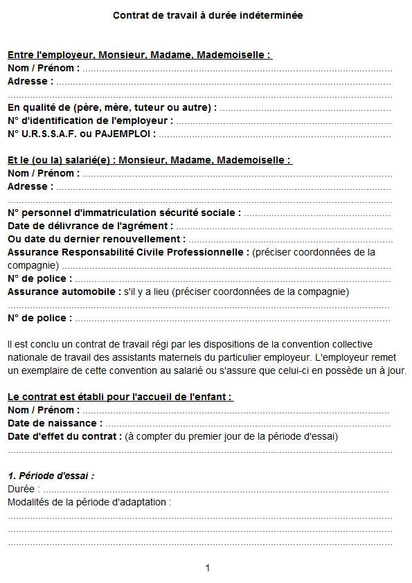 modele de contrat de travail pour assistant maternelle Modele De Contrat De Travail Assistant Maternel | sprookjesgrot modele de contrat de travail pour assistant maternelle