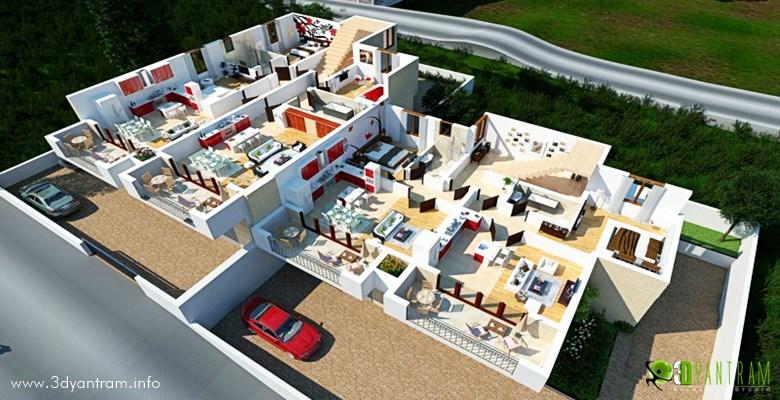 Dream home 3d floor plan design pearltrees for Dream floor