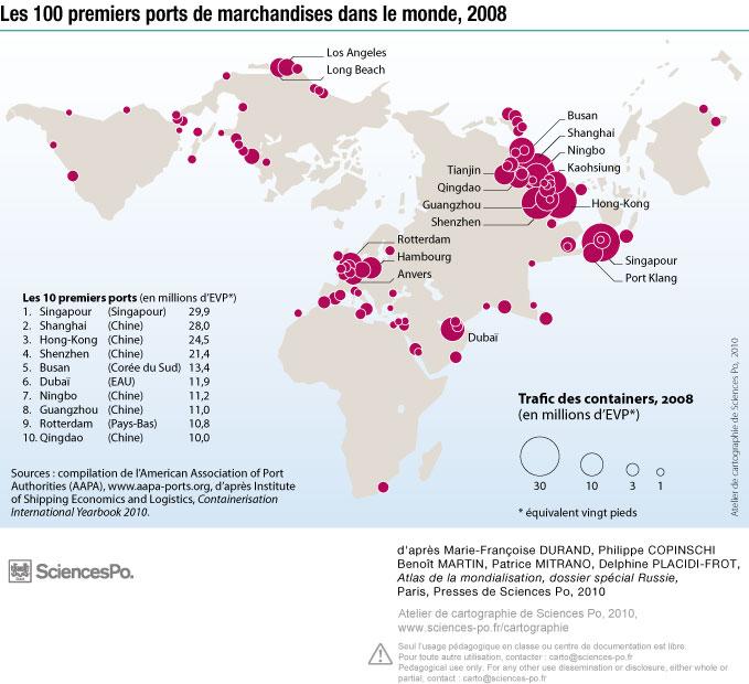 E07c ports monde 2008 pearltrees - Les plus grand port du monde ...