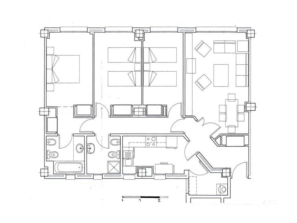 Ejemplo plano planta vivienda escalado pearltrees for Hacer plano de vivienda