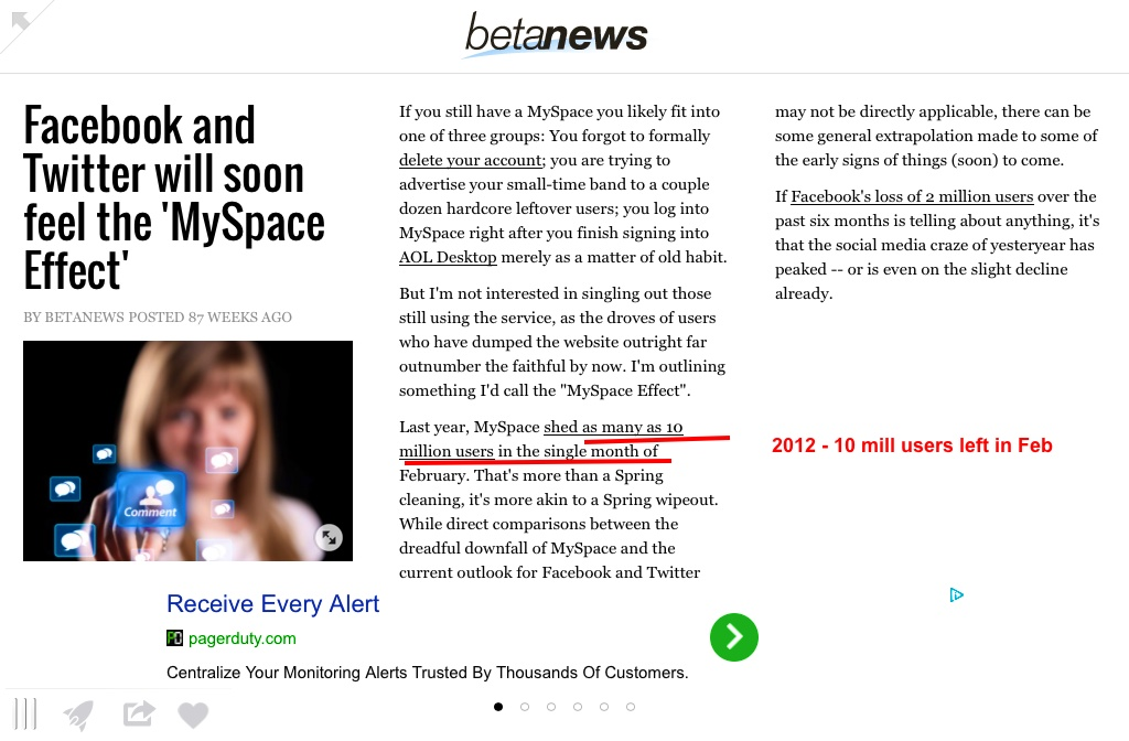 Facebook Twitter and the MySpace effect | Pearltrees