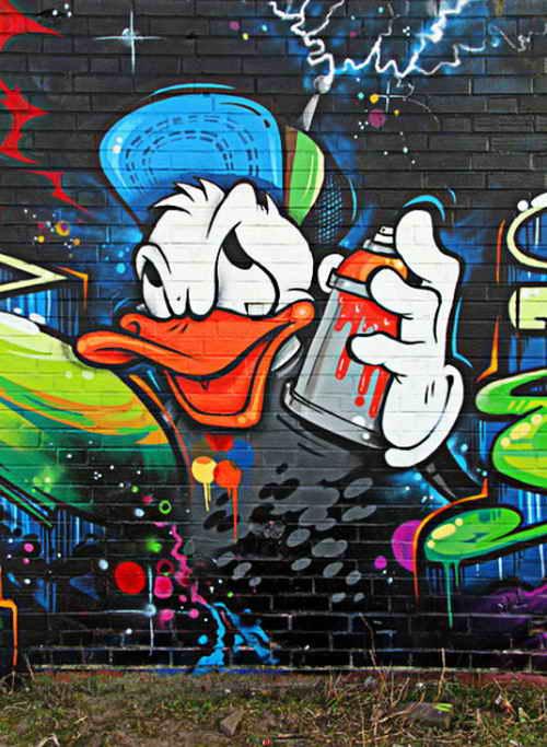 Graffiti cartoon characters donald duck pearltrees for Immagini graffiti hd