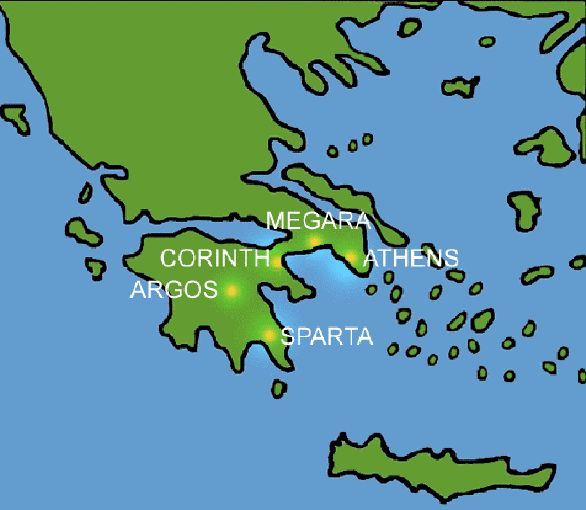Map of Greek City States Greek City States Map