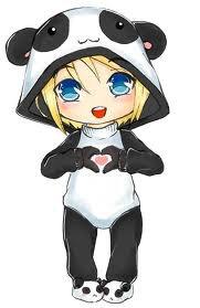 Mignon Dessin Kawaii Fille Panda