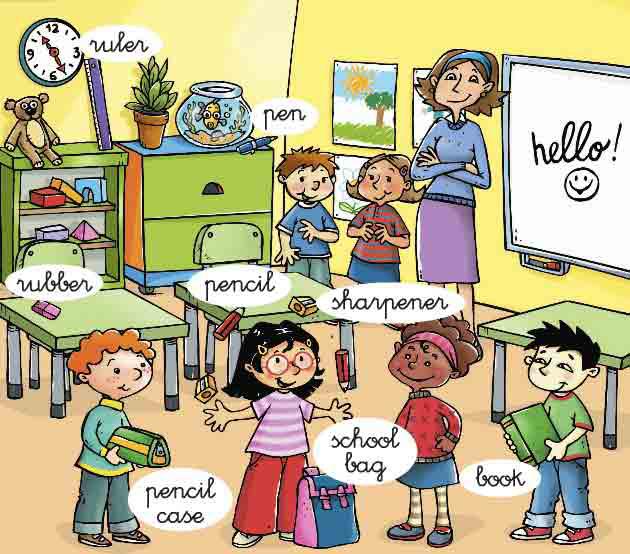 Imagenes que ilustran los diferentes objetos del sal n de for Actividades para el salon de clases