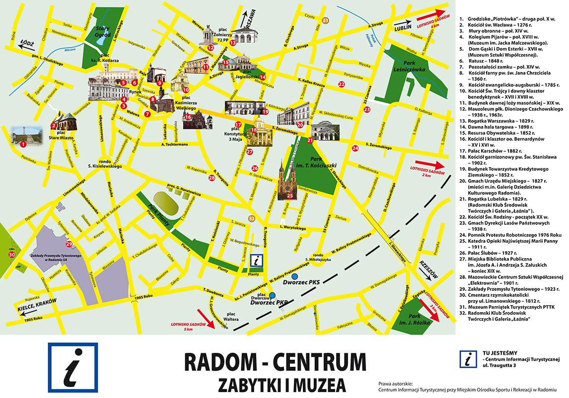 mapa radom Mapa Radomia zabytki   Pearltrees