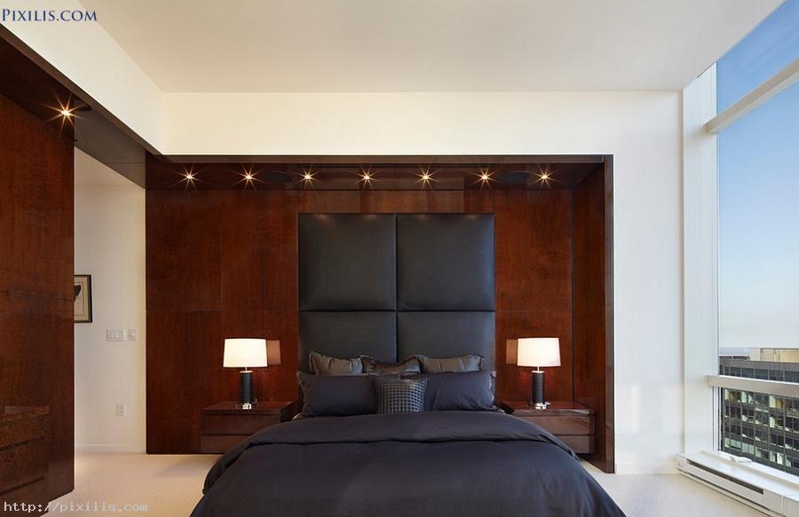 Bedroom: Masculine Bedroom Wallpaper Penthouse Bedroom Oozes ...