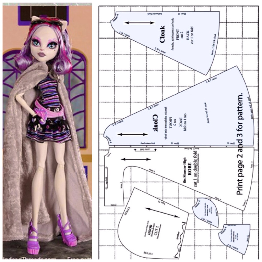 Monster high sleeveless cloak | Pearltrees