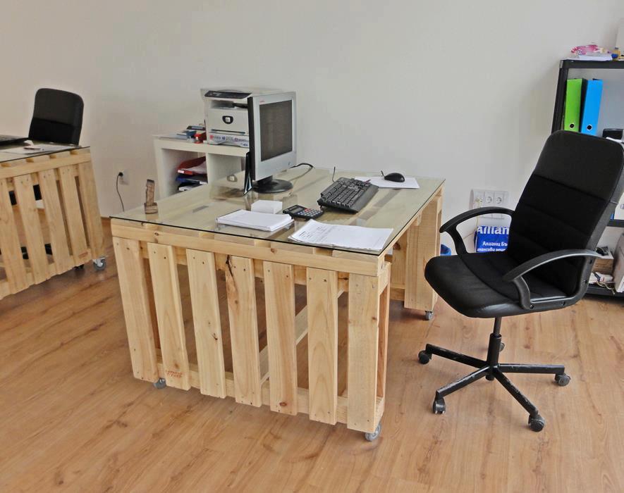 Palette recycl es en bureau pearltrees - Bureau en palette ...