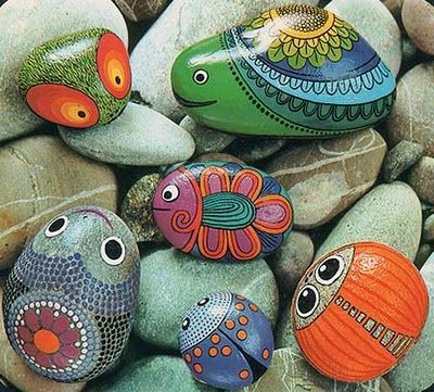 Poissons 2 pearltrees - Painting rocks for garden what kind of paint ...