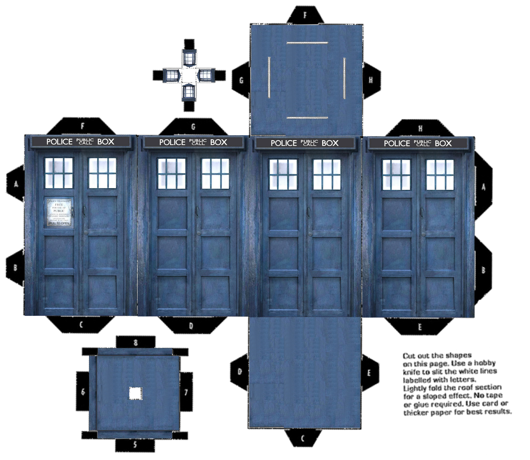image relating to Tardis Printable called Printable-tardis-3d-coloration Pearltrees