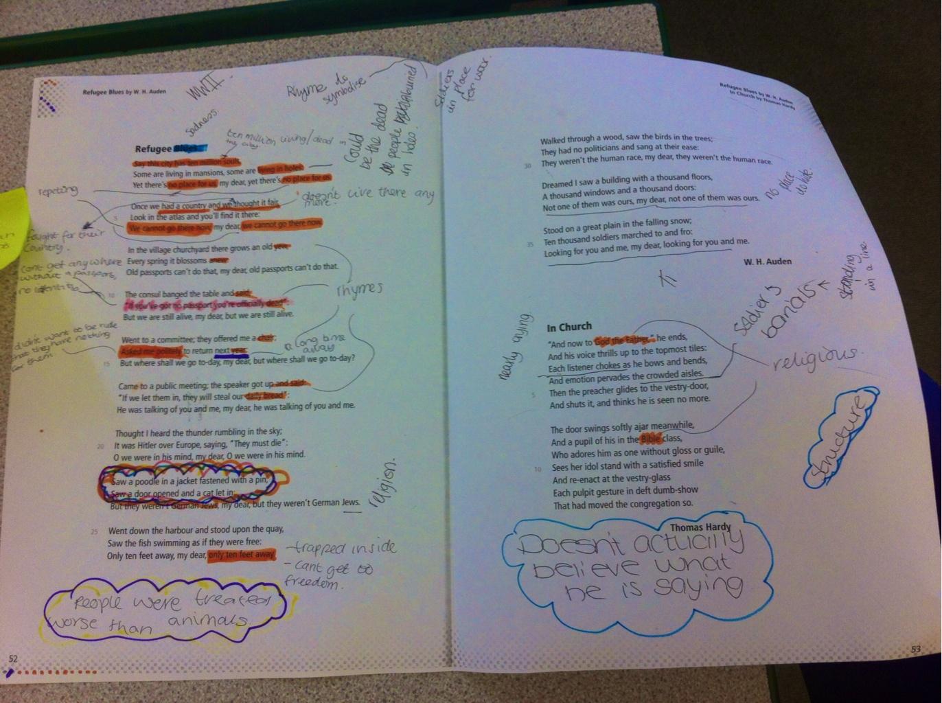 refugee blues analysis essay