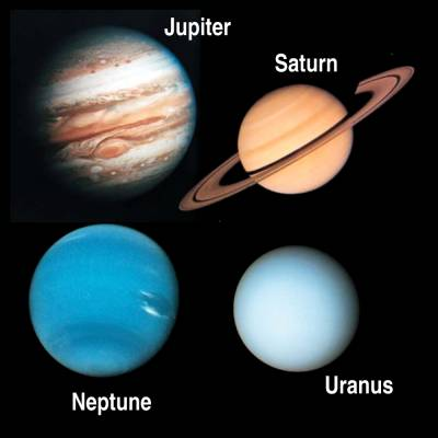 a research on the four jovian planets jupiter saturn uranus and neptune The giant planets, their moons, and their rings  • jupiter, saturn, uranus, neptune  – each jovian planet formed its own .
