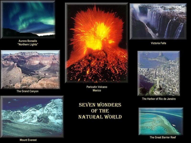 Merveille du Monde Naturelle Les Sept Merveilles du Monde