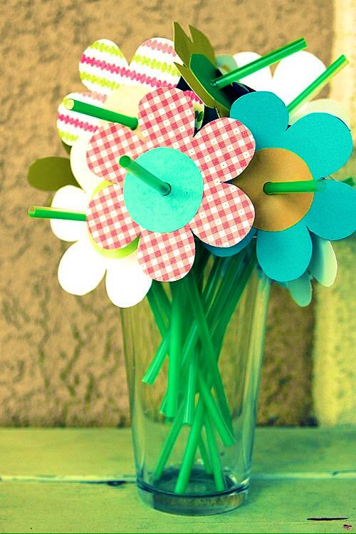Straws Made into Flowers Pearltrees
