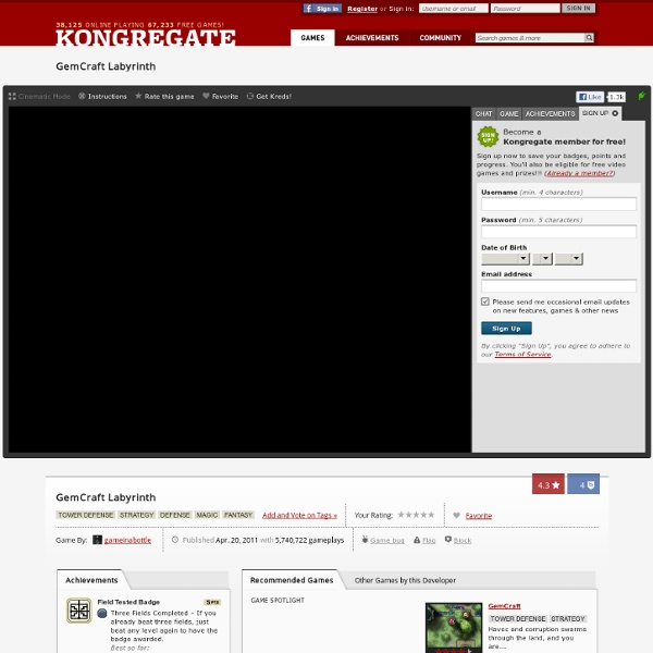 Play GemCraft Labyrinth, a free online game on Kongregate.